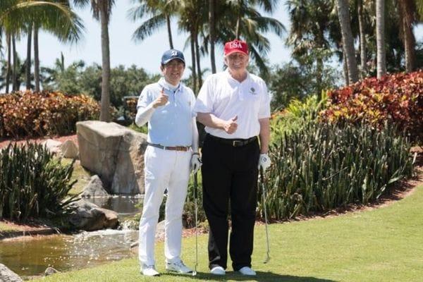 ゴルフで仕込んだインチキし放題、トランプ流政治