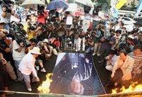 小泉首相の靖国参拝に反発、数千人が抗議デモ - 韓国
