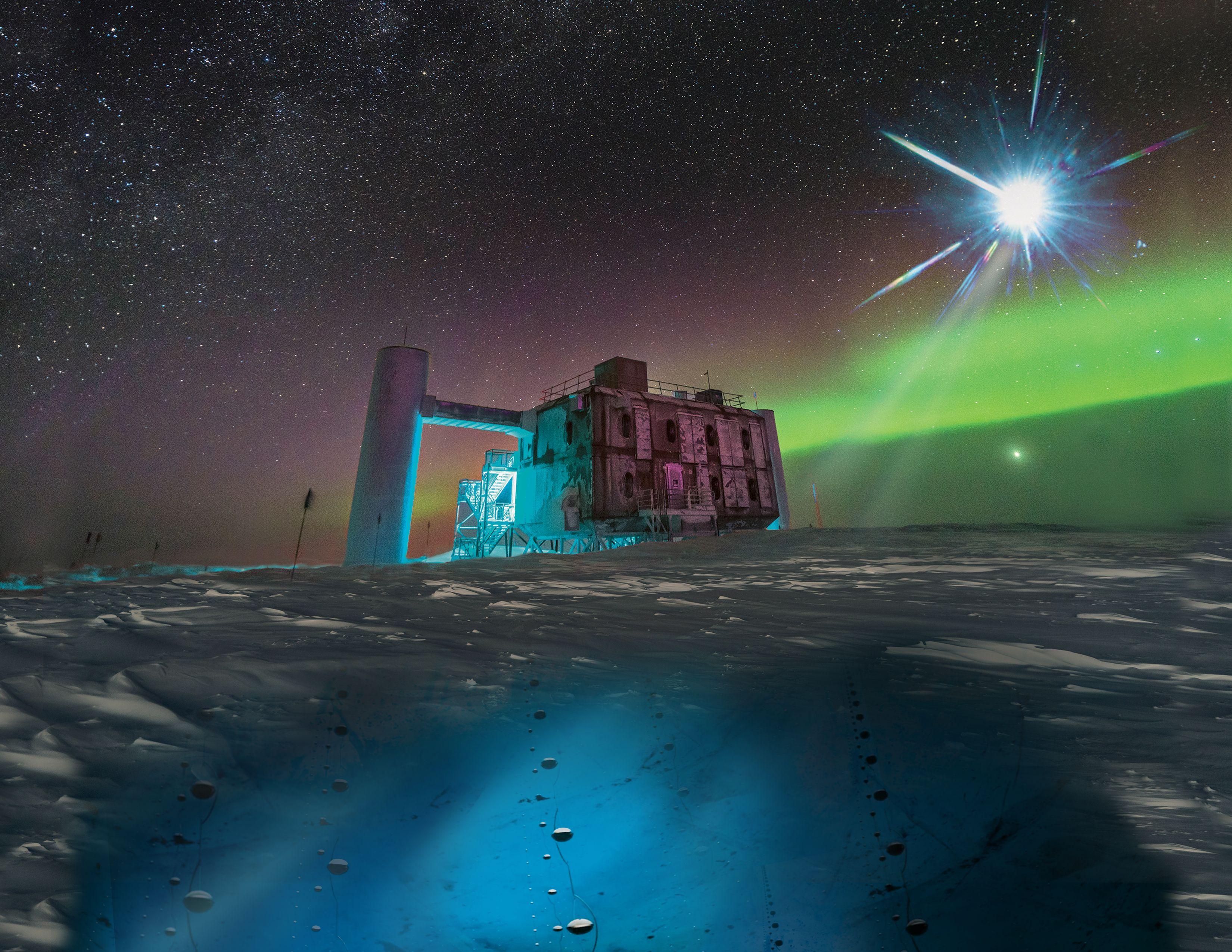 南極で検出されたニュートリノ、...