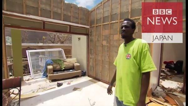 屋根が飛ばされ全てを失った…「イルマ」に自宅破壊され