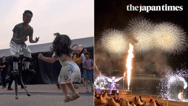 Star Island 2018: futuristic firework entertainment in Odaiba