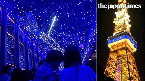 Milky Way Illumination at Tokyo Tower's observatory