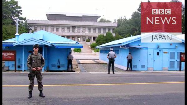 非武装地帯見守る将校たち 米韓・合同軍事演習