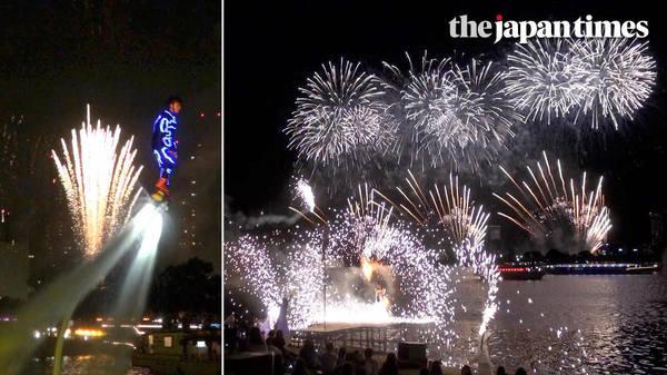 'Star Island' — new fireworks show in Odaiba