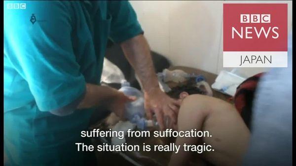 シリア・イドリブ攻撃 「呼吸困難の半数以上が子供」