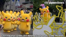 Pikachu Outbreak! at Yokohama Minato Mirai area