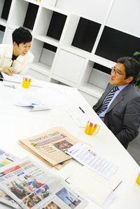 小野由美子WSJ日本版編集長、川嶋諭JBpress編集長/前田せいめい撮影