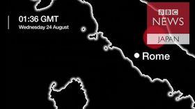 【イタリア地震】 36時間でM3以上の余震が98回