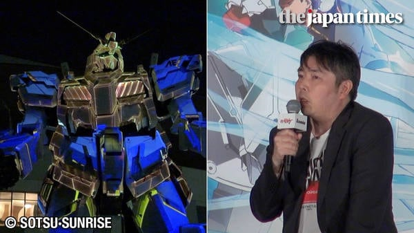 Announcement for Gundam NT and first projection mapping of Odaiba's Unicorn Gundam statue