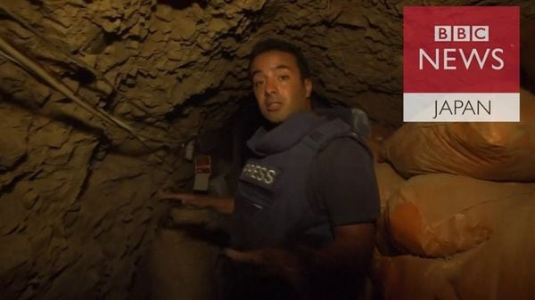 ISが残したトンネルの中へ 台所や電話が
