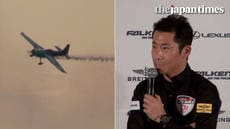 Yoshihide Muroya's press conference for Red Bull Air Race World Championship 2018