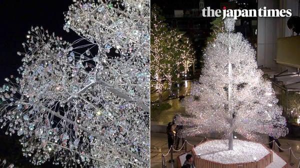 Crystal tree and winter illuminations at Tokyo Garden Terrace Kioicho